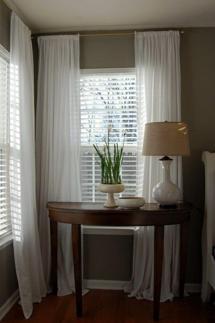 les 25 meilleures id es de la cat gorie voilage blanc sur pinterest. Black Bedroom Furniture Sets. Home Design Ideas