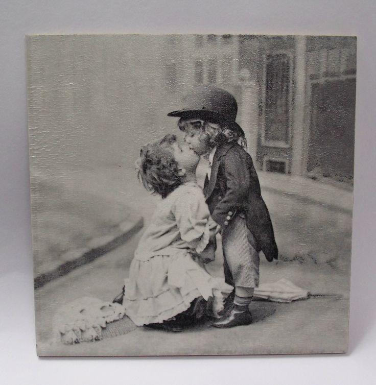 Obrázek  - Děti polibek