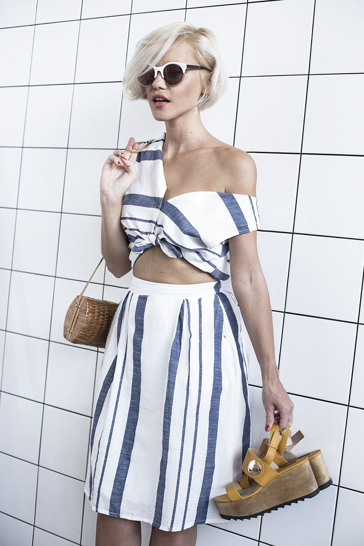 Blue and white two piece / perfect for Summer!