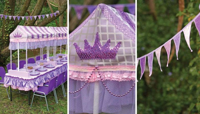 dinosaur centerpieces ideas   Make your princess party simply stunning with our pink and purle decor ...