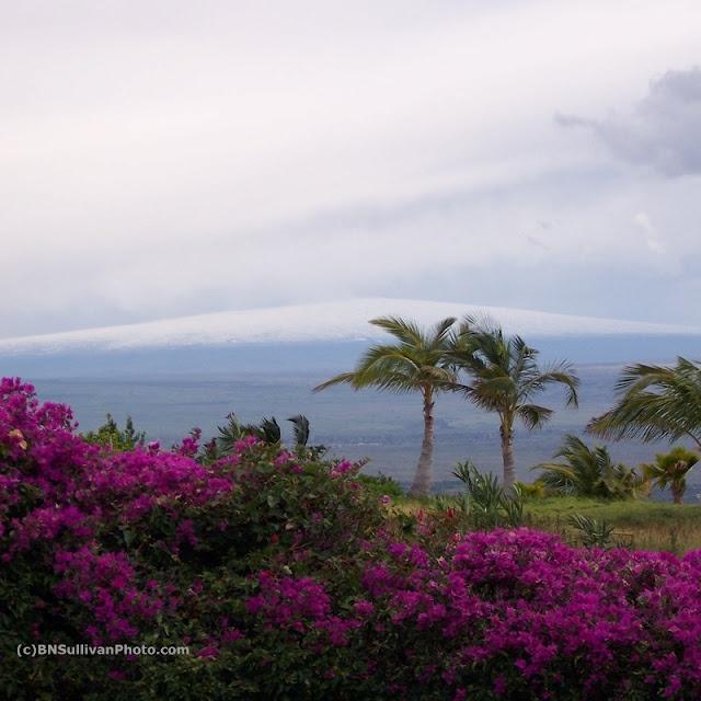 Mauna Loa in winter, Big Island, Hawaii - photo by B N Sullivan