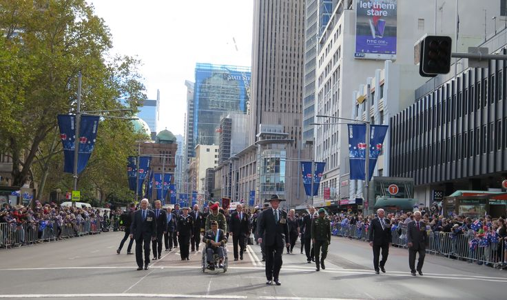 RSL NSW State President Rod White leads the RSL State Councillors and guests from Timor-Leste in the ANZAC Day March.