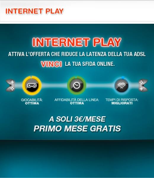 Internet Play è l'Opzione Internet ideale per il gaming online multiplayer. Riduce i tempi di latenza (ping) della connessione ADSL fino al 40%! #internetplay