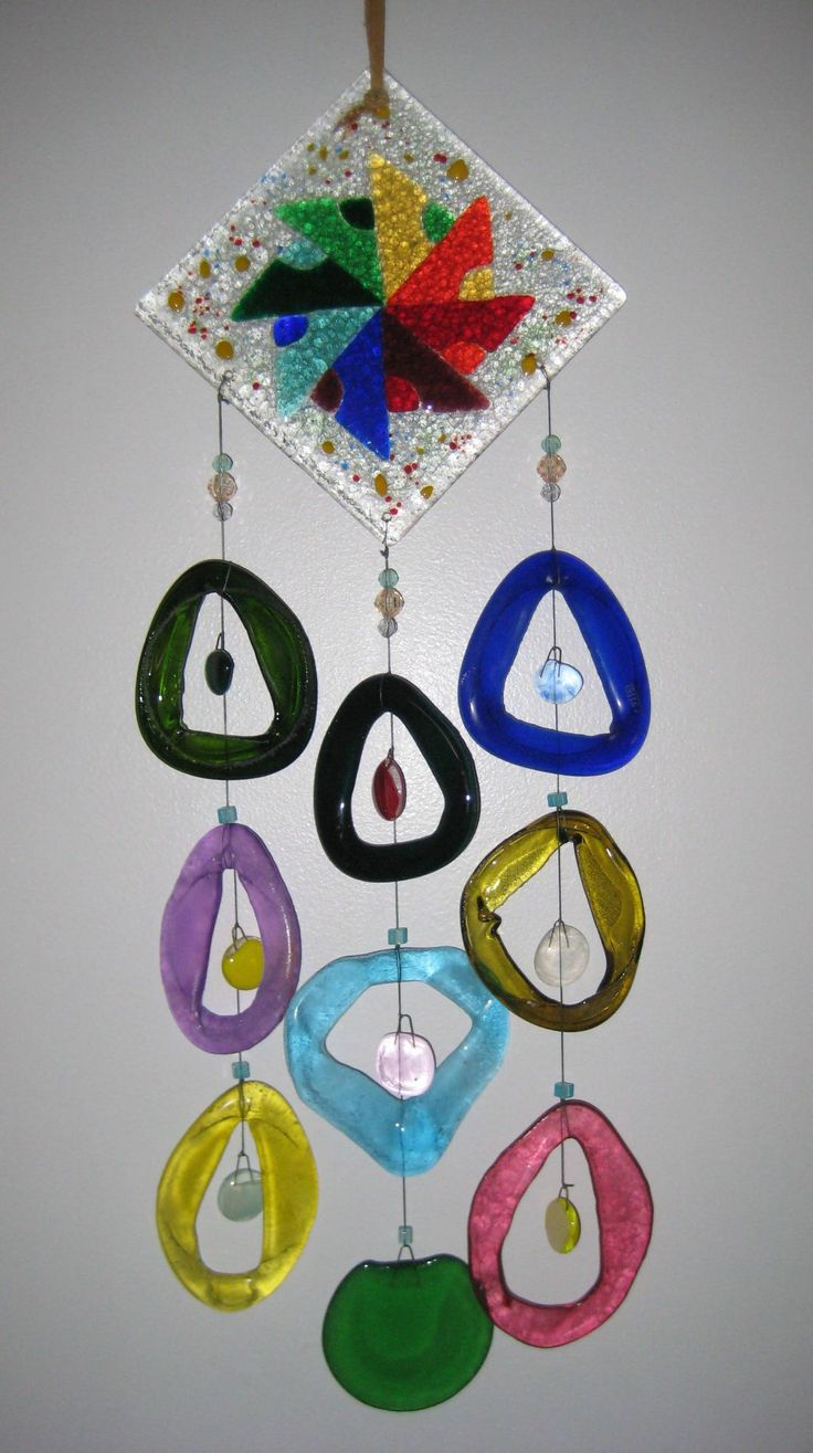 Pinwheel - Fused Glass Wind Chimes