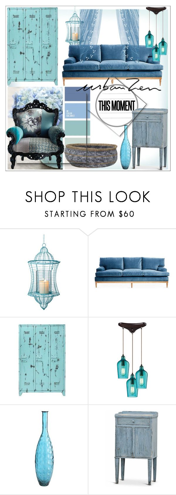 """Urban Zen"" by housebybianca ❤ liked on Polyvore featuring interior, interiors, interior design, home, home decor, interior decorating, ELK Lighting, Pier 1 Imports and Ross & Brown"