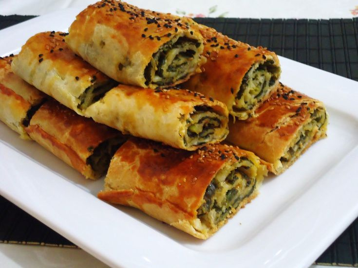 Spinach and Feta Borek. Spinach Borek is one of the more popular boreks around. Boreks are Turkish savory pastries with different fillings, such as cheese or spinach and feta or meat.