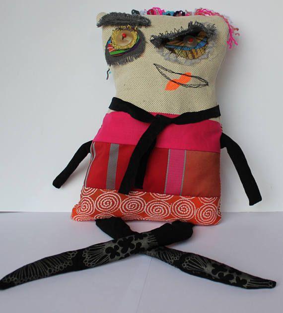 Dougouloushe Fabric monster   Monster doll  Tooth fairy  3D