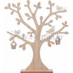 Διακοσμητικό Ξύλινο Δέντρο με Πουλάκια Διάσταση: 44cm x 48cm