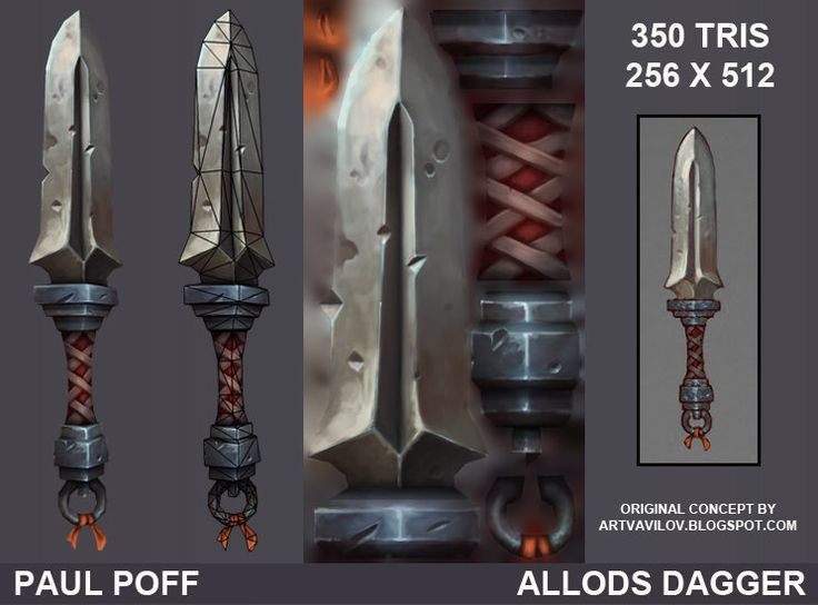 Allods Dagger Fan Art, Paul Poff on ArtStation at http://www.artstation.com/artwork/allods-dagger-fan-art