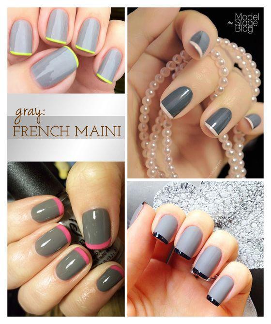 gray: French Mani #mani #manicure #Frenchmanicure