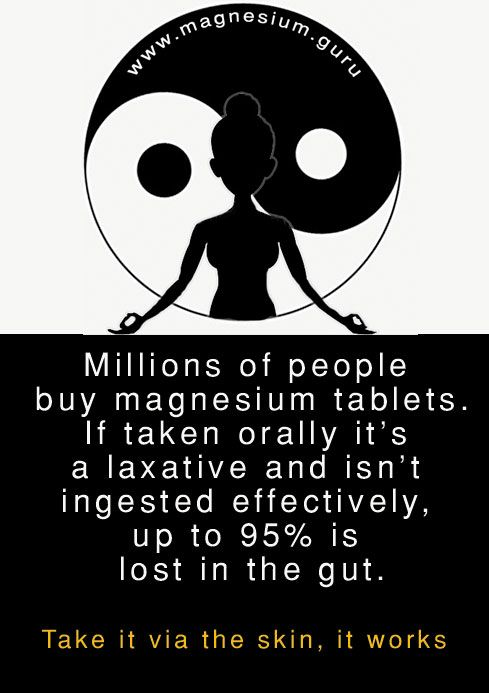 I really don't know how they get away with selling magnesium tablets when they have access to the same data I do. It's not only pointless but also puts people off trying a form that does work.