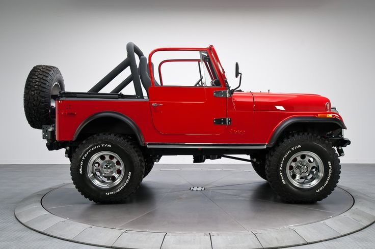 Red 1980 Jeep CJ 7