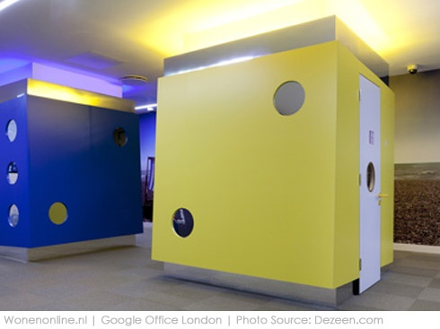 Binnengluren bij: Google London