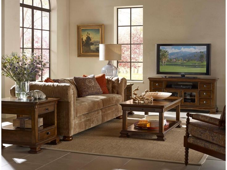 Kincaid Furniture Portolone Traditional Rectangular Solid Wood End ...