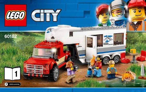 View LEGO instructions for Pickup and Caravan set number