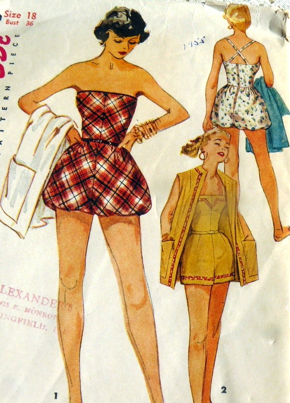 Lovely Vtg 1950s Bathing Suit Beach Jacket Sewing Pattern 18 36 | eBay