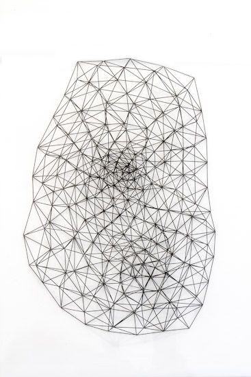 Peter Trevelyan | 'Diagram 2' | 2015 | 360 x 300 x 70 mm | 0.5mm graphite, perspex case