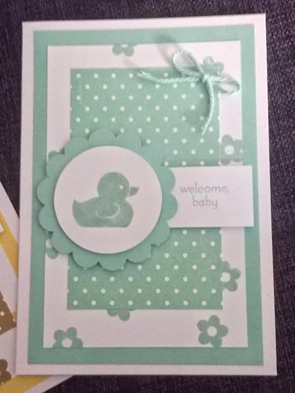 Stampin' Snowflake: Sarah Bell - Stampin' Up! Independent Demonstrator: Stampin' Up! - Something for Baby Cards