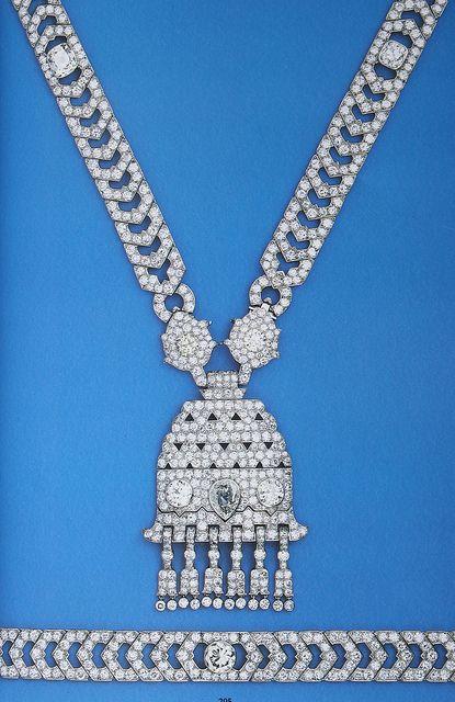 Cartier London Art Deco Diamond Necklace by Clive Kandel, via Flickr