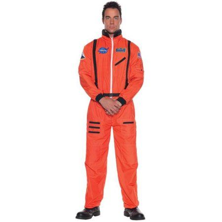 Buy Costumes For All Occasions Ur29137 Astronaut Mens Orange Std at Walmart.com