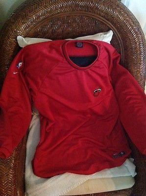 Vintage nike miami heat basketball shooting shirt long sleeves size L Men's