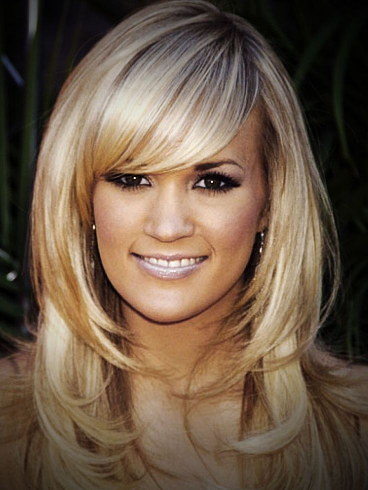 Medium Layered Hairstyles with Bangs | Layered Haircuts With Side Bangs Medium Straight Layered Haircuts With ...