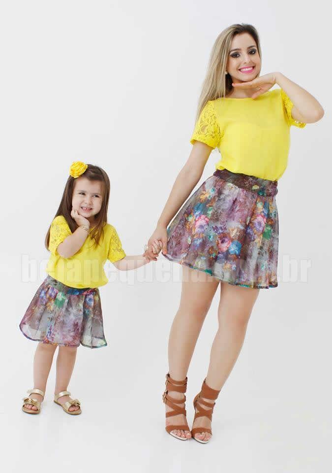 Conjunto blusa e saia - http://belapequena.com.br/produtos/4/roupas-tal-mae-tal-filha