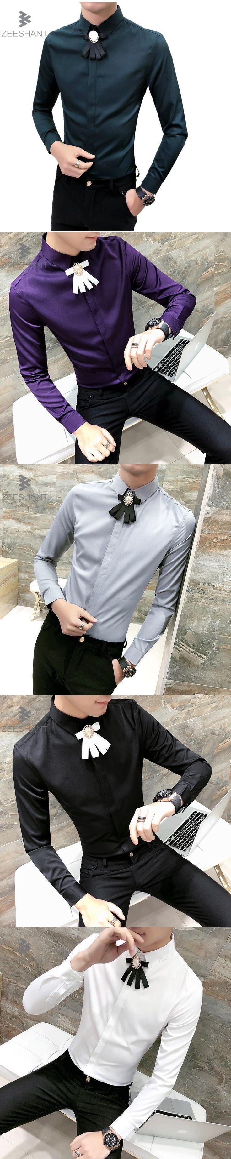 Zeeshant 2018 Mens Work Shirts Brand Long Sleeve Men Dress Shirts White Male Shirts in Men's Tuxedo Shirts XXXL