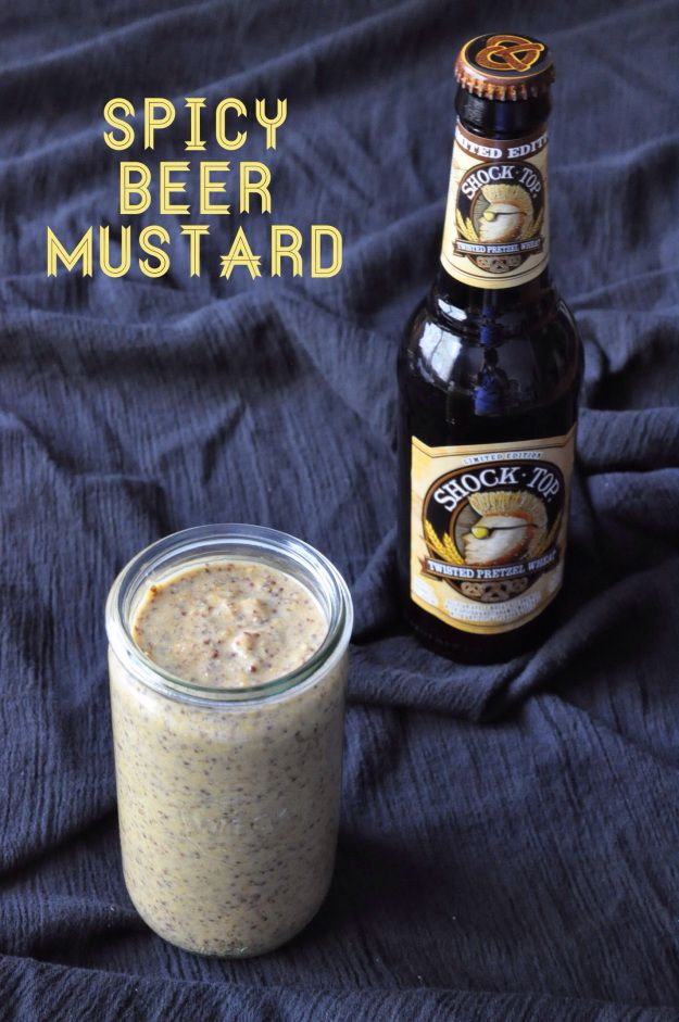 Spicy Beer Mustard | Twisted Pretzel Wheat beer from Shock Top adds a ...