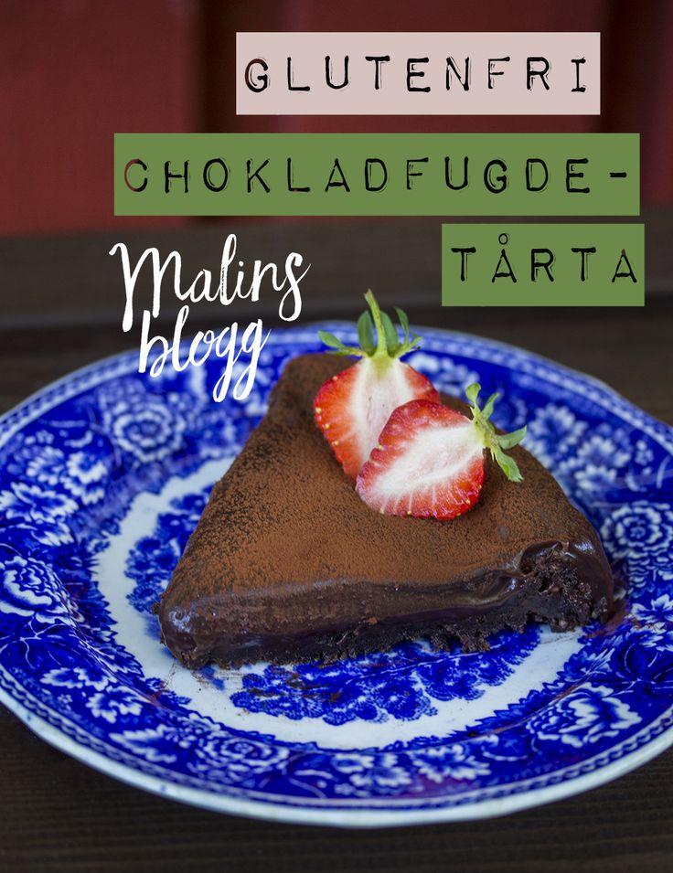Naturligt glutenfri fudgekaka med mandelmjöl #recept #baka #glutenfritt #naturligtglutenfritt #malinsmat #choklad #mandelmjöl #fudgekaka