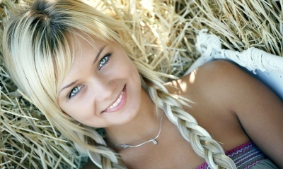 Blonde Girl With Beautiful Smile