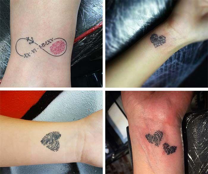 140 Lovely Mother Daughter Tattoos To Show Their Deep Love: 17 Best Ideas About Fingerprint Tattoos On Pinterest