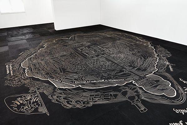 Mariana Castillo Deball, Nuremberg Map of Tenochtitlan, 2013
