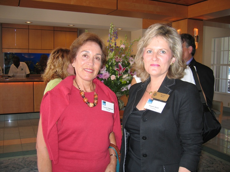 Maria del Carmen Meckman & Susan Moir at the Florida Sister Cities Conference at the Helmsley Sandcastle on Lido Key in Sarasota in 2005