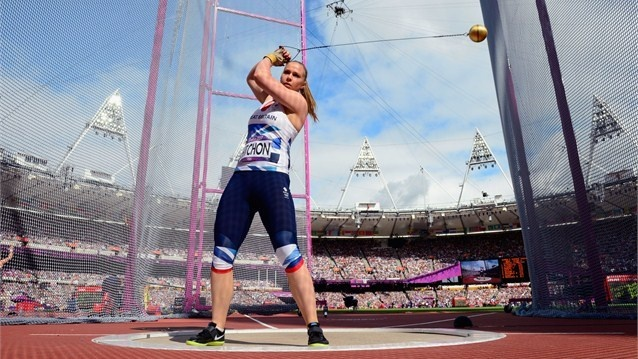 Great Britain's Sophie Hitchon throws the Hammer  Sophie Hitchon of Great Britain competes in the women's Hammer Throw qualifications in a sunny Olympic Stadium on Day 12 of the Games.