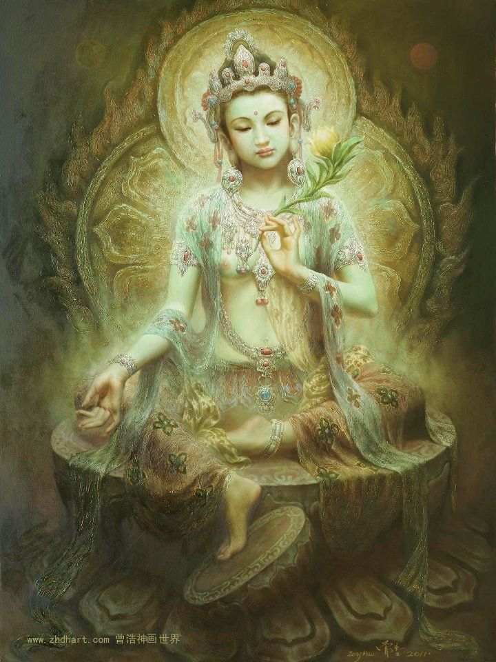 "Green Tara, Green Tara is a revered Buddhist deity. She is a Buddha of enlightened actions. The name Tara translates as ""star"" Like a shooting star streaking across the sky Goddess Tara helps to swiftly move us along on our path to liberation and freedom. If you are feeling stuck, or continue to encounter barriers with your spiritual growth, call upon Tara to help kick-start your progress. She wants to see you succeed and will help you along the way."