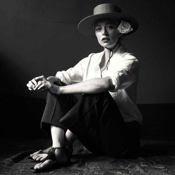Caroline Vreeland channels the iconic Diana Vreeland shot by Michael Avedon