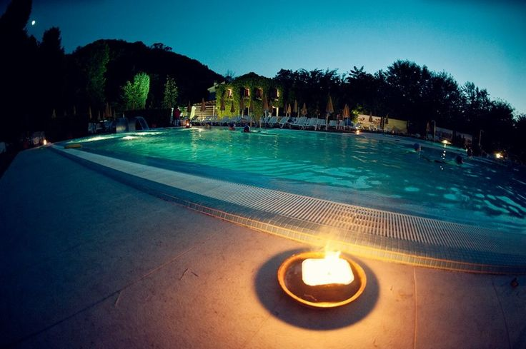 SPA by night! There's nothing like swimming  under the moonlight! We love it!