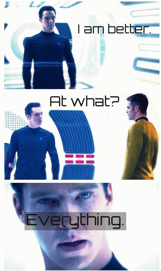 Khan - Star Trek Into Darkness. So proud of Benedict, he was amazing.