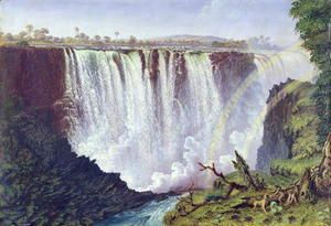 The Great Western Fall, Victoria Falls 1862  Thomas Baines