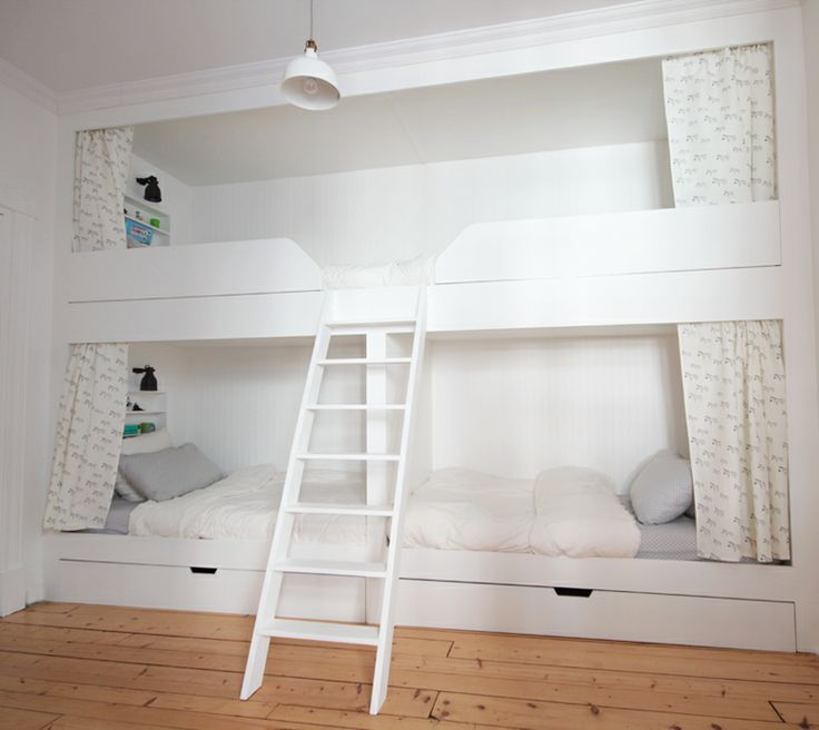 stacked beds for 4 boys: Four Kids, For Kids, Bunk Beds, Idea Saves, Bunk Rooms, Bunkbeds, Cooool Idea, Kids Rooms