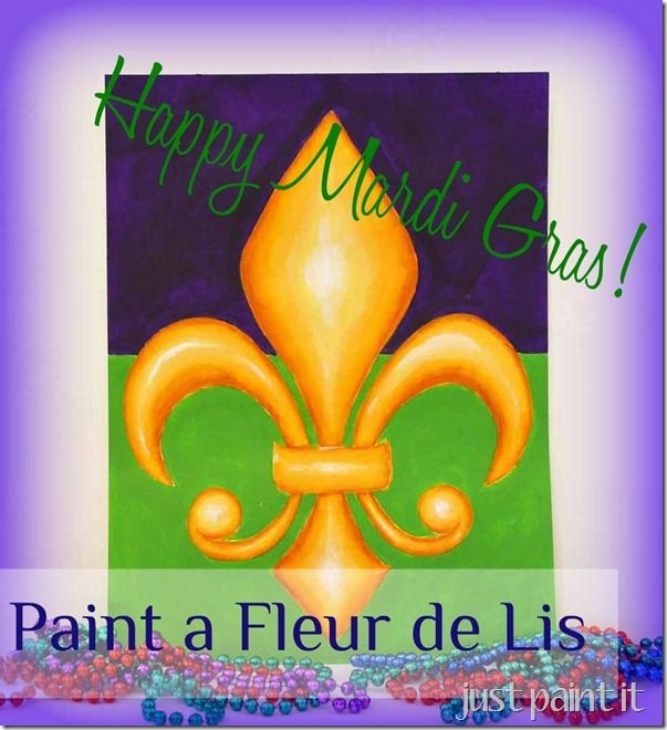 How to paint 3D fleur de lis