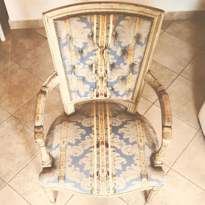 sillon antiguo estilo luis xv #chaucasa