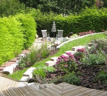 29 best images about terraced garden design ideas on for Terrace garden designs