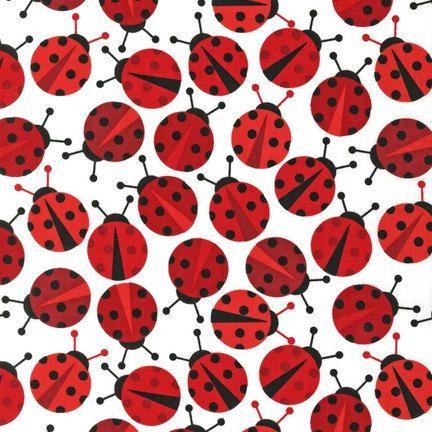 Ladybugs:)Laminate Cotton, Robert Kaufman, Anne Kells, Fabrics, Zoology Ladybugs, Urban Zoologie, Urban Zoology, Ladybugs Red, Lady Bugs