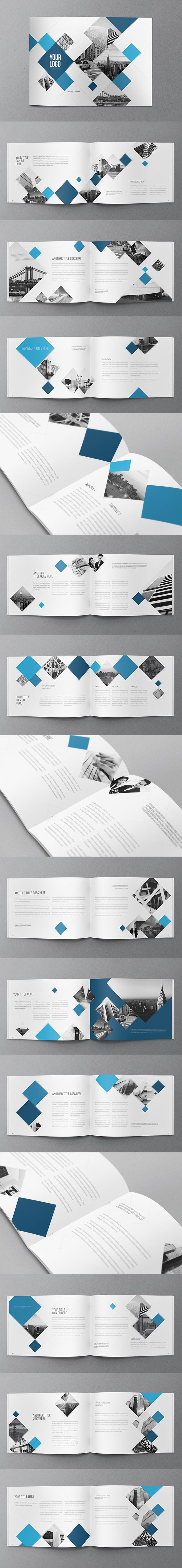 Modern Blue Squares Brochure. Download here: http://graphicriver.net/item/modern-blue-squares-brochure/11065766?ref=abradesign #brochure #design
