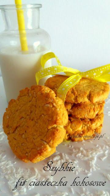 Szybkie fit ciasteczka kokosowe (bez cukru)
