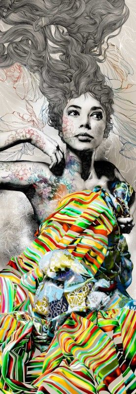 Amazing illustration by Gabriel Moreno: Art Illustrations, Madrid Spain, Color, Amazing Artworks, Gabrielmoreno, Computers Art, Design Studios, Fashion Illustrations, Gabriel Moreno