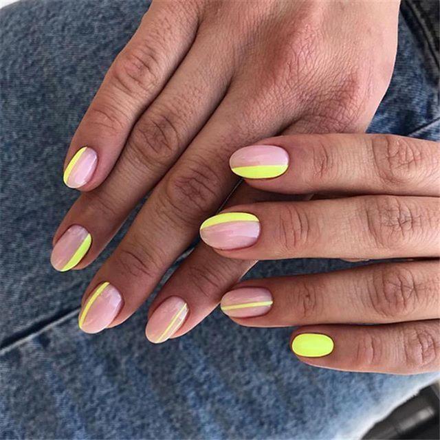 Pinterest Green Nails Neon Nails Nail Designs Summer