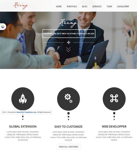 This free one page Joomla theme includes Bootstrap integration, a clean design, a responsive layout, and more.